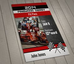 Printable Pinewood Derby Pit Pass