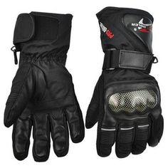 De cuero guantes de moto guantes de moto de invierno a prueba de viento impermeable equipo de protección deportes racing motocross moto guantes luvas