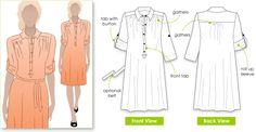 Lovely shirt dress - maybe would also be a good tunic, done a bit shorter?  From Style Arc.