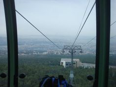 View from the lift to Parnitha mountain Visit Greece, Planet Earth, Athens, Beautiful Images, Planets, Mountain, Spaces, Beach, The Beach