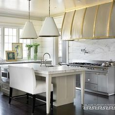 Kitchen Island with Bench, Transitional, Kitchen, Melanie Turner Interiors