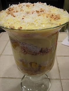 Tropical Trifle ~ bubblecrumb.blogspot.comALSO GREAT RECIPES FOR HOMEMADE RANCH DRESSING:::...