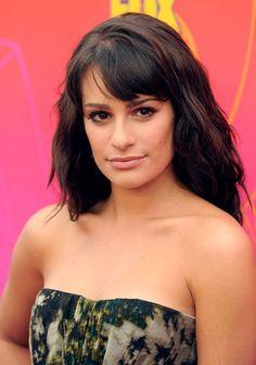 Lea Michele..side swept across