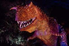"""Carnotaurus, also known as Carnotaurs (""""Meat-eating bull""""), were a species of carnivorous dinosaur that lived in the Late Cretaceous period million years ago in South America. Disney World Rides, Disney Parks, Walt Disney World, Jurassic Park, South America, Fandoms, Dinosaurs, Mini, Fandom"""