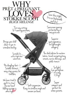 Stokke Scoot Black Melange | Stokke via Prêt à Pregnant    (need to figure out if it works with Maxi Cosi adapters)