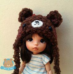 Chocolate brown bear hat for Pukifee, Enyo, Mui Chan and Lati Yellow