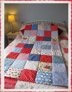 Eiderdown style patchwork Cowboy Quilt ~ With Cath Kidston fabric ~ Cosy & puffy | eBay