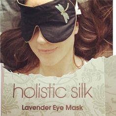 """Lavender Eye Mask in Black Dragonfly added by @louise.norgaard """"Finally I can get my beauty sleep without feeling the glow from the smoke detector at the other end of the bedroom. This is the best for your sleep hormones, sleep in complete dark."""" www.louisenorgaard.dk"""