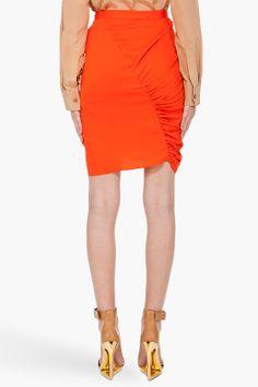 3.1 PHILLIP LIM Bright Orange Wrap Skirt