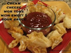 Cream Cheese Won tons - MOMMY ON DEMAND
