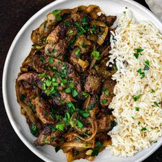 Recipes With Beef Liver, Beef Liver And Onions Recipe, Onion Recipes, Meat Recipes, Cooking Recipes, Healthy Recipes, Le Diner, Entrees, Health Foods