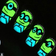 118 Best Nightshine Nails Glow In The Dark Nail Art Designs By