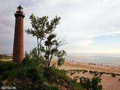 Little Sable Light House at sunset #pureMichigan