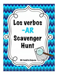 Have your students reinforce PRESENT TENSE -AR VERB ENDINGS by completing this scavenger hunt. Hang cards all over the classroom and/or the hallway and that's it! Students love having the freedom to walk around while they study vocabulary. As an extension, I like to have students write sentences using the different verb