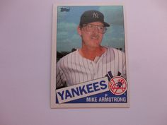 Mike Armstrong 1985 Topps Baseball Card