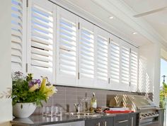 At CurtainWorld, we're experts in designing custom-made curtains, shutters & blinds in Perth, WA. If you want to enhance your rooms, get in touch today! Outdoor Living Areas, Outdoor Rooms, Outdoor Walls, Outdoor Bbq Kitchen, Outdoor Kitchen Design, Outdoor Kitchens, Alfresco Designs, Alfresco Ideas, Shutter Designs