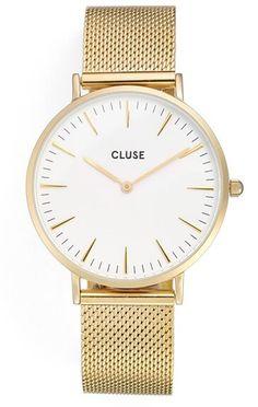 CLUSE 'La Bohème' Mesh Strap Watch, 38mm Affiliate Link: https://api.shopstyle.com/action/apiVisitRetailer?id=532866677&pid=uid9424-36540632-97