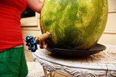 Watermelon Lemonade Fountain! Awesome!!
