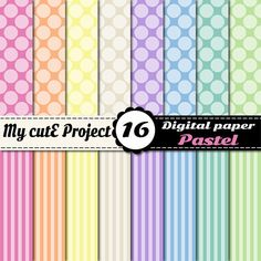 Big polka dots & stripes  Instant Download  by Mycuteproject