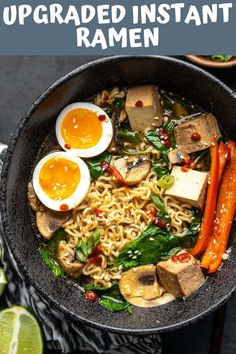 When all you have (or want) is one of those little cheap packets of noodles, here are 6 easy ways to upgrade instant ramen and make it a legit meal. Instapot Soup Recipes, Quick Soup Recipes, Creamy Soup Recipes, Broccoli Soup Recipes, Beef Soup Recipes, Cauliflower Soup Recipes, Soap Recipes, Instant Ramen, Instant Pot