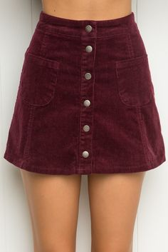 Brandy ♥ Melville | Sena Corduroy Skirt - Bottoms - Clothing