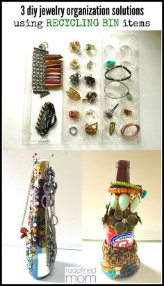 3 DIY Jewelry Organization Solutions Using Recycled Items Love to organize? Want to be green? Here are 3 DIY Jewelry Organization Solutions Using Recycled Items that are practical functional and earth-friendly. Amber Jewelry, Pearl Jewelry, Diy Jewelry, Fashion Jewelry, Gold Fashion, Gold Jewelry, Vintage Jewelry, Recycling Information, Amber Stone