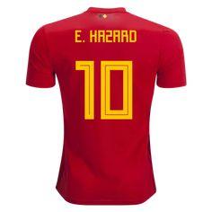 4e07116cb96 adidas Belgium #10 Eden Hazard Home Jersey 2018 Soccer Jerseys, Soccer  Gear, Football