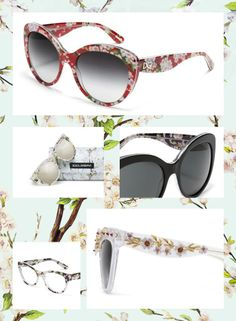 82e7c8ef2a6 Dolce Gabbana Eyewear SS 2014 Almond Flowers Collection. Andrea  Ramirez-Martinez · sunglass hut arcadia