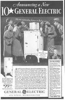 GE Junior Flat Top Refrigerator 1933 Ad Picture