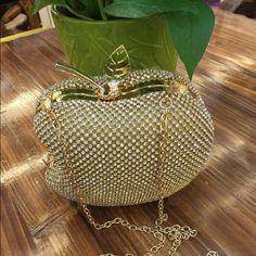 Selling this Apple Rhinestone Clutch  in my Poshmark closet! My username is: raediamond. #shopmycloset #poshmark #fashion #shopping #style #forsale #Handbags
