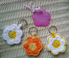 porta-chaves em crochet