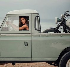 "bladeandwood: ""Landrover, bike, girl - check! """