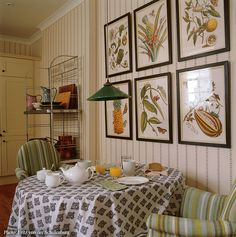 Kitchen dining space designed by Sibyl Colefax & John Fowler Interior Design and Decoration
