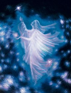 Angel's Blessings - An angel dances with the stars.
