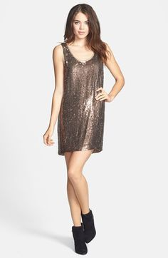 $212, Sequin Silk Shift Dress by Nicole Miller. Sold by Nordstrom. Click for more info: http://lookastic.com/women/shop_items/108315/redirect