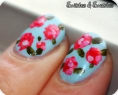Preciosas uñas primaverales