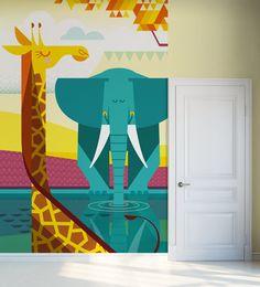 e-glue Savannah half-mural #kid