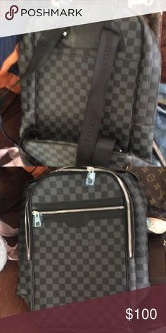 7703e6da8009 Shop Men s Louis Vuitton Gray Black size OS Backpacks at a discounted price  at Poshmark. Description  Back pack worn twice.