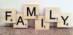 The Caldwells: Family Scrabble Wall Art
