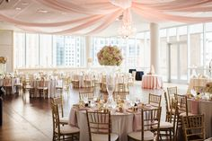 beautiful blush and gold decorations   lily green thumb   social 10 events   mint museum uptown   charlotte nc wedding photographers