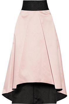 Milly   Pleated bonded satin skirt   NET-A-PORTER.COM