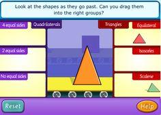 Classifying Triangles Game 3 Triangle Game, Triangle Angles, 7th Grade Math, Fourth Grade, Fun Math, Math Games, Classifying Triangles, Science Classroom, Classroom Ideas