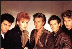 Roger Taylor of Duran Duran turns 48 today! Duran Duran, left to right: Roger Taylor, Nick Rhodes, Simon Le Bon, Andy Taylor and John Taylor. John Taylor, Roger Taylor, Simon Le Bon, Nick Rhodes, Old Is Cool, The Good Old Days, New Wave, Pop Rock, Rock N Roll