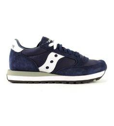 SAUCONY – Sneakers blu navy e bianche Jazz Original da uomo 1