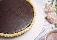 Simple and delicious cream pie with only 7 ingredients! Caramel Tart, Tasty, Yummy Food, Pastry And Bakery, Cake Flour, Cream Pie, Desert Recipes, Just Desserts, Sweet Recipes