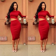 Red sexy dress Dressy Casual Outfits, Curvy Outfits, Urban Fashion, Trendy Fashion, Womens Fashion, Fashion Trends, Couture Dresses, Fashion Killa, Types Of Fashion Styles