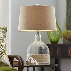 Glass Rope Table Lamp: http://www.completely-coastal.com/2016/01/rope-lamps.html