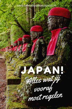 Met de reizen die wij maken boekten we vaak van te voren enkel de eerste overnachting en natuurlijk de vliegtickets om er te komen. Voor Japan ligt dat iets anders en in dit artikel nemen we je mee wat je allemaal vooraf moet regelen voordat je naar Japan vertrekt. Asia Travel, Japan Travel, Kyoto Japan, Lonely Planet, Osaka, To Go, Calm, Vacation, World