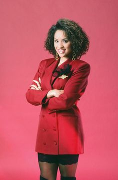 Karyn Parsons as Hilary Banks in The Fresh Prince of Bel-Air Bank Fashion, 80s Fashion, World Of Fashion, Vintage Fashion, Fashion Outfits, Womens Fashion, Hillary Fresh Prince, Prinz Von Bel Air, Karyn Parsons