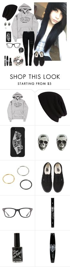 """The workers at my house played bmth and ptv they're cool"" by emokittyyy ❤ liked on Polyvore featuring River Island, Vans, King Baby Studio, Ray-Ban and Urbanears"